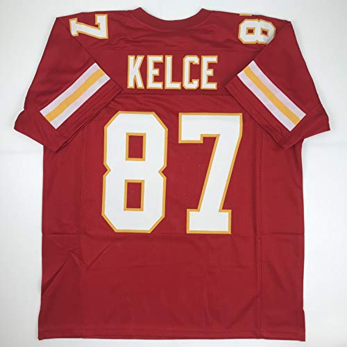 Unsigned Travis Kelce Kansas City Red Custom Stitched Football Jersey Size Men's XL New No Brands/Logos
