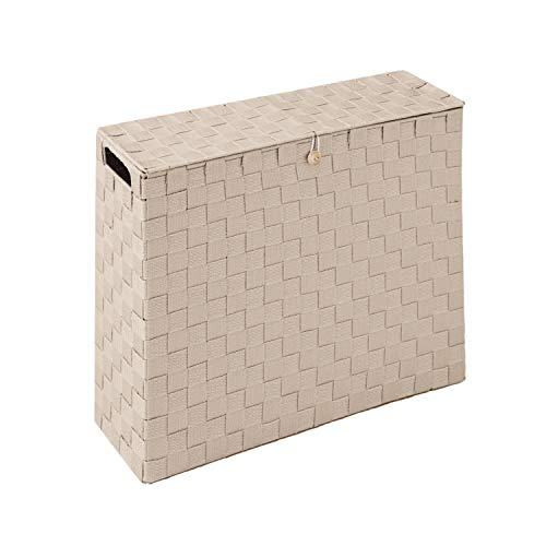 コモライフ 目隠し収納スリムボックス トイレ サニタリーボックス 幅14cm 収納ラック ストッカー トイレットペーパー 12ロール すき間収納
