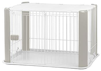 Iris Ohyama, parc pour chien / cage d'extérieur / enclos / chenil - Pet Circle - CLS-960, plastique, gris, 7 kg, 92 x 63 x 60 cm