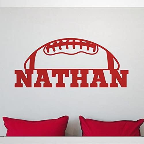 Calcomanía de pared personalizada de fútbol para niños, adolescentes y guarderías, pegatinas removibles para decoración de pared, mural, decoración del hogar bw273