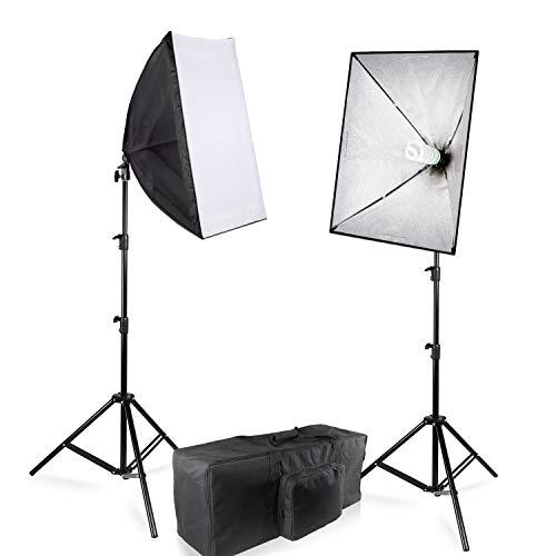 JS Julius Studio 20 x 28 Inch Soft Box Lighting Kit, 800W Output Softbox Light for Video Camera Photography, Photo Studio, Photo Lighting Diffuser, TEMJSAG487