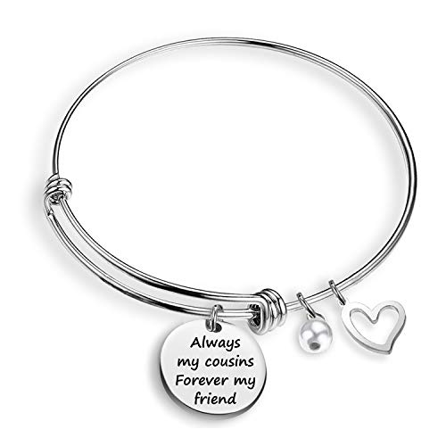 cousins jewelries Cousin Bracelet Always My Cousins Forever My Friend Cousin Jewelry Gifts Family Jewelry Bracelet(cousins forever BR)