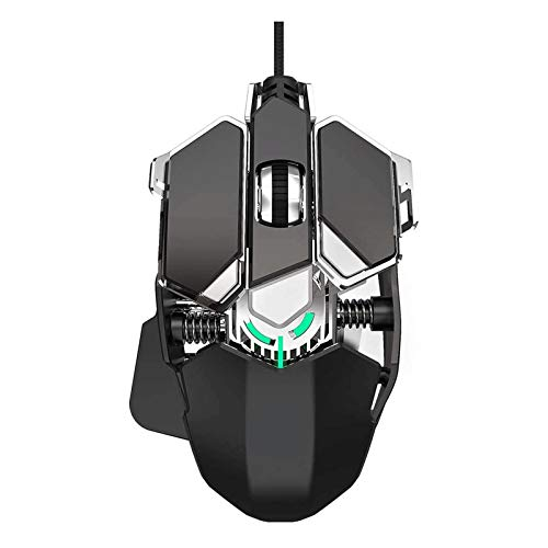 ZMKM Professional Mechanical Wired Gaming Mouse 9-Key Optical Tracking General Gaming Mouse Button for Notebook Computer (Black)