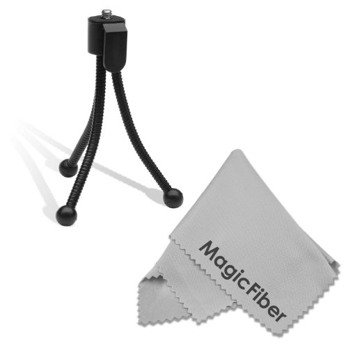 5 Flexible Mini Tripod for CANON PowerShot Cameras + Premium MagicFiber Microfiber Cleaning Cloth