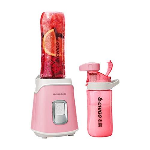 Creative Light- Presse-agrumes, presse-agrumes multifonctions, mini-mélangeur électrique portable, 3 options de couleur, les doubles coupes sont plus pratiques (Couleur : Pink)
