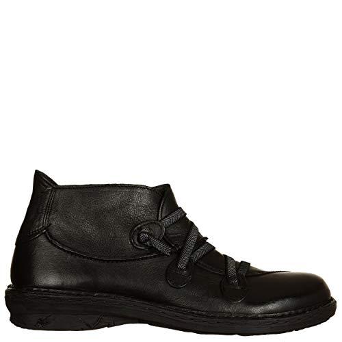 Viale- Zapatos de Mujer KHRIò, Color Negro, con elástico Cruzado, Suela de Goma