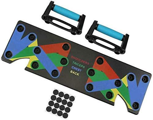 LNLJ - Tabla de flexiones 9 en 1, sistema multifunción para gimnasio en casa, ejercicio, con código de color, para entrenamiento de oficina, equipo de entrenamiento