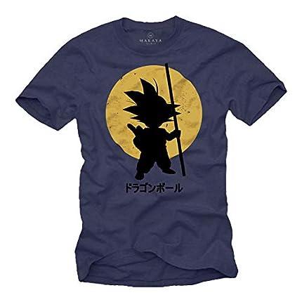 MAKAYA Camiseta Son Goku - Dragon - Azul S