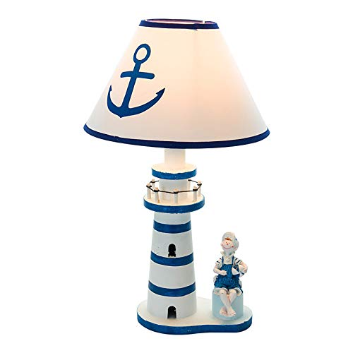 Mediterraner Stil Holz Leuchtturm Lampe Kinderzimmer Wohnzimmer Bett Scheinwerfer Dekoration kreative dimmbare Tischlampe