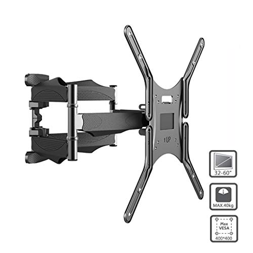 YMS TV de Montaje en Pared 6 Armas retráctil Swivel TV Soporte Rack for 32-60' MAX Soporte VESA 400x400mm LCD Soporte de Pared Soporte de TV (Size : 32~55 Inches)