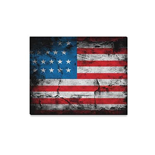 JOCHUAN Wandkunst Malerei Grunge Flagge Usa Drucke Auf Leinwand Das Bild Landschaft Bilder Öl Für Zuhause Moderne Dekoration Druck Dekor Für Wohnzimmer