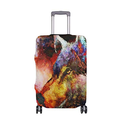 Cosmical Wolf Luggage Cover Suitcase Spandex Travel Protector Size M
