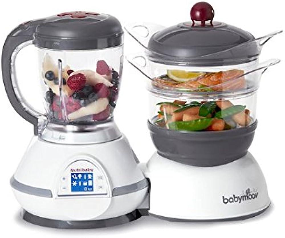 Babymoov, nutribaby robot da cucina cuocipappa e frullatore, scaldabiberon, sterilizzatore, cuoci-vapore ?A001115
