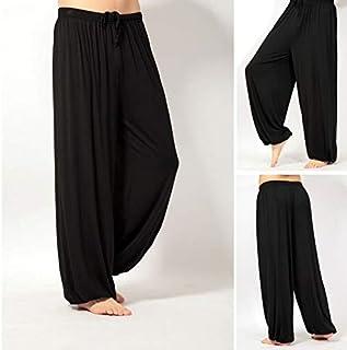 BEESCLOVER Super Loose Sweatpants Yoga Pants Men Men's Pyjama Trousers Sleep Bloomers Pants Asia M-3XL Black XXXL