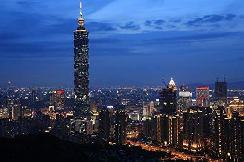 Rompecabezas Para Adultos 1000 Piezas 3D Taipei De Madera Montaje Personalizado