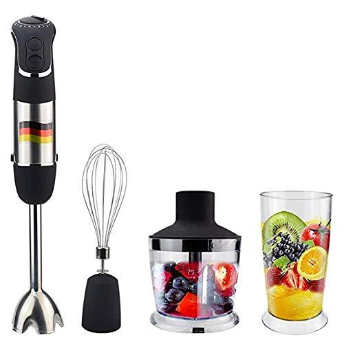 L.BAN 4-in-1-Multifunktions-Stabmixer, 850 W 6-Gang-Stabmixer mit 500 ml Küchenmaschine, 600 ml Becher und Mixer für die Küche