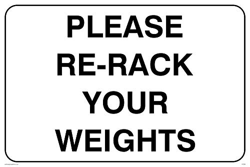 Señal Viking Signs IV5298-A4L-V, con texto: «Please Re-Rack Your Weights», vinilo, 200 mm...