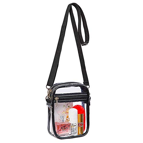 Clear Crossbody Purse Bag, Stadium Approved for Concerts, Festivals