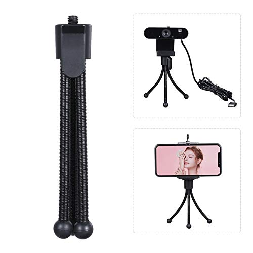 Ajcoflt Mini Desktop Tripod Stand with 1/4 Inch Screw Hole Portable Folding Desktop Stand Mobile Tabletop Video Webcam Web Camera Bracket for Live Streaming Online Meeting Teaching Video Calling