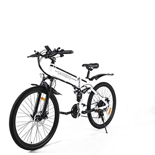 SAMEBIKE Bicicleta de Montaña Eléctrica Plegable...