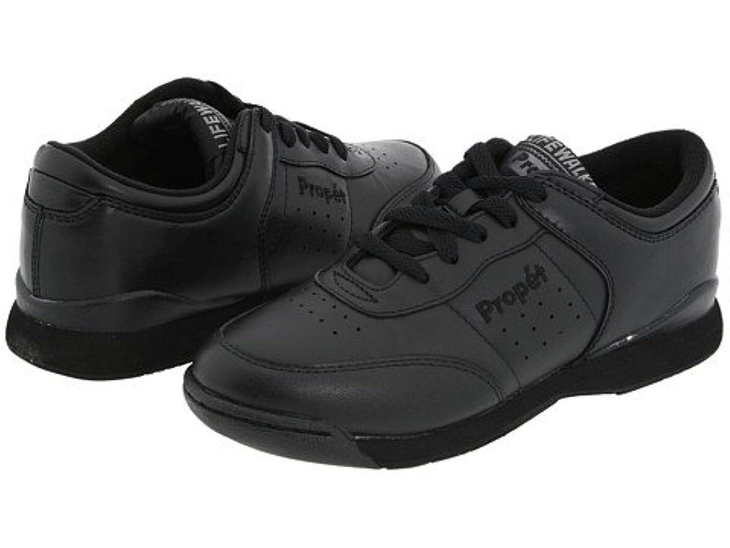 ハーネス書き込みオーナー(プロペット) Propet レディースウォーキングシューズ?カジュアルスニーカー?靴 Life Walker Black 9.5 26.5cm W (D) [並行輸入品]