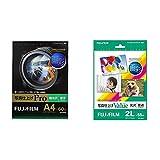【セット買い】FUJIFILM 写真用紙 画彩 超光沢 厚手 A4 60枚 WPA460PRO & 写真用紙 画彩 光沢 2L 55枚 WP2L55VA