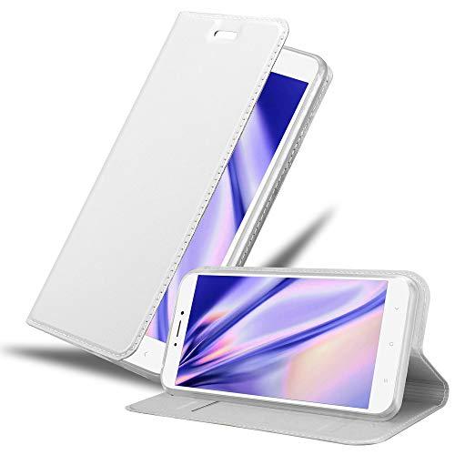 Cadorabo Funda Libro para Xiaomi Mi MAX 2 en Classy Plateado - Cubierta Proteccíon con Cierre Magnético, Tarjetero y Función de Suporte - Etui Case Cover Carcasa