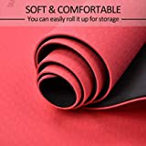 Yoga mat, TPE Non-Slip Fitness Mat Dual Color Exercise Mat for Yoga Gymnastics