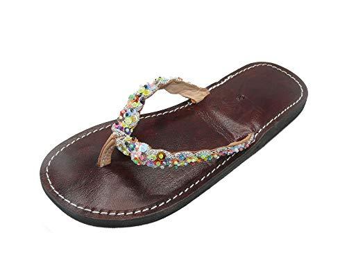 Orientalische Leder Schuhe Orient Sandalen - Damen - 905781-0001, Schuhgrösse:40