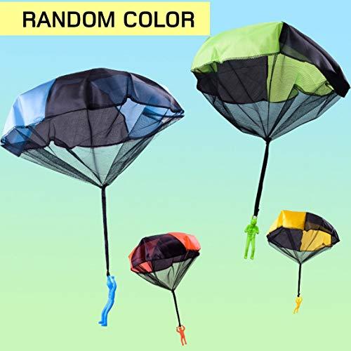 SeniorMar Lustiges Design Kinder Hand werfen Fallschirm Spielzeug für Kinder pädagogischen Fallschirm mit Figur Soldat Outdoor-Spiel spielen