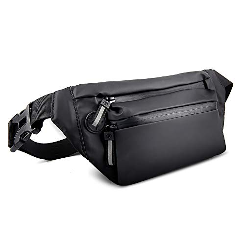 Fanny Pack, Fanny Packs for Women and Men Waterproof Fanny Pack Running Waist Bag Lightweight Belt Bag with Adjustable Belt for Travel, Sport, Party NIANYISO(Black)