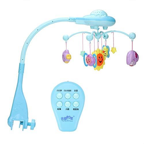 MISLD Muzikale Bed Bell, Baby Vroeg Leren Puzzel Afstandsbediening Hangende Roterende Editie Sterrenmuziek Bed Bell met Projectie