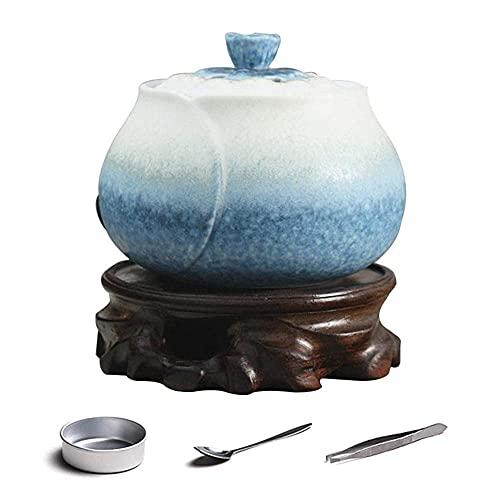 Cerámica Incense Burner,Incensario de Carbón de Porcelana,para Ayudar a Dormir Yoga Sala De Meditación Casa u Oficina Regalo