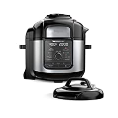 The Ninja Foodi Deluxe—the deluxe pressure cooker that crisps. Deluxe cooking capacity - XL 8-qt. pot, XL 5-qt. Cook & Crisp Basket and Deluxe Reversible Rack let you cook for a small group. TenderCrisp Technology lets you quickly pressure cook ingre...