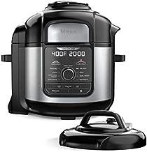 Ninja FD401 Foodi 8-Quart 9-in-1 Deluxe XL Pressure Cooker, Air Fry, Crisp, Steam, Slow Cook, Sear, Saute, Bake, Roast, Broil, Yogurt, Dehydrate, Extra Large Capacity, 45 Recipe Book, Stainless Finish