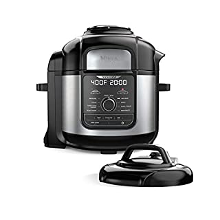 Ninja FD401 Foodi 8-Quart 9-in-1 Deluxe XL Pressure Cooker, Air Fry, Crisp, Steam, Slow Cook, Sear, Saute, Bake, Roast, Broil, Yogurt, Dehydrate, Extra Large Capacity, 45 Recipe Book, Stainless Finish (B07S85TPLG) | Amazon price tracker / tracking, Amazon price history charts, Amazon price watches, Amazon price drop alerts