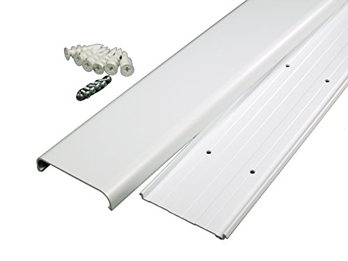 Wiremold Cable Management Kit, Wire and Cable Cover for Wall Mount Flat Screen TV , Cable Raceway for Hiding and Organizing Wires and Cords, White, 48 inch, C30