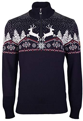 Dale of Norway Herren Dale Christmas Masc Pullover M Marineblau, Rose, Off-White