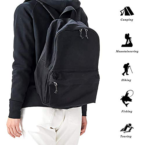 Homebe Toile Cartable Waterproof Casual Sac à Dos en Toile for Men Women JoJo's-Biz-arre Lightweight Anti-Theft Outdoor Travel Daypack College Student Rucksack Fits Up to 15.6 inch Computer