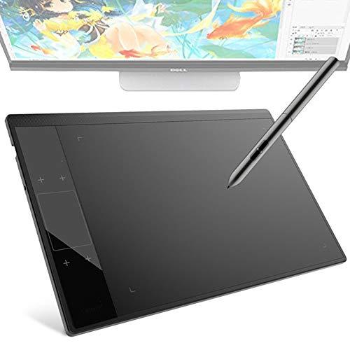EJOYDUTY Tableta de Dibujo de gráficos, para Illustrator 10x6 Pulgadas Área de Dibujo de lápiz Digital de área Activa Grande, Compatible con Windows, Mac, Softwares de Dibujo.