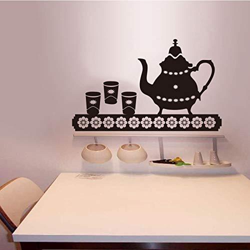 Vinyl muurstickers muurstickers theepot muurschildering tegel wall art keuken behang woondecoratie 35X59 cm