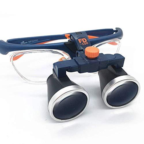 Lupa de aumento con luz led,lupa con luz led para manualidades,gafas lupa visera,lupa intercambiables para ortopedia, microcirugía, cirugía, cirugía oral,Blue
