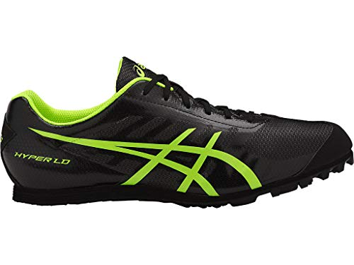ASICS Men's Hyper LD 5 Track & Field Shoes, 9.5M, Black/Safety Yellow