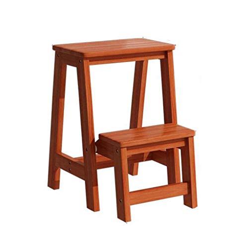 Vouwstoelen Flip Ladder Kruk Hout Twee-in-één Opslag Multifunctionele Klimmen Hoge Huis Restaurant Keuken Interieur 3 Kleuren MUMUJIN
