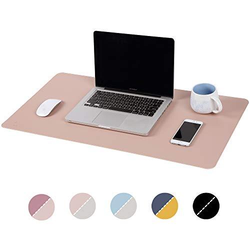 AtailorBird 270 * 210 * 2mm Tappetini per Il Mouse Mouse Pad per Computer Portatile con Doppio utilizzo Laterale Tappetino per Mouse Pad in Pelle Impermeabile PU Azzurro-Argento