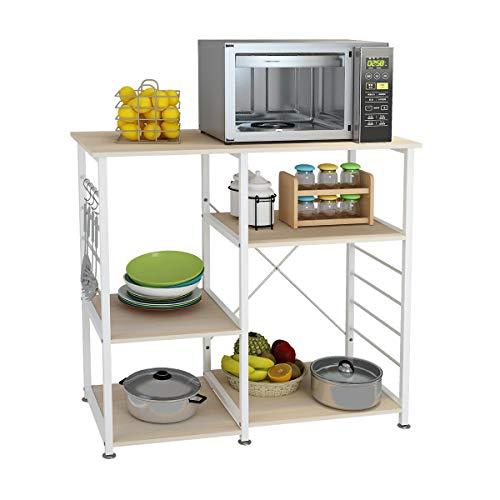 soges Acero Inoxidable Estante de Cocina Estante de Horno microondas, Multi-función Utensilios de Cocina Estantes de Almacenamiento,171-MO