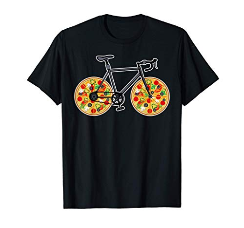 Bike Cycling & Sports Ball - Bicycle Cyclist and Pizza T-Shirt