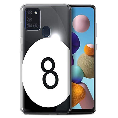 Stuff4 Gel TPU Hülle/Hülle für Samsung Galaxy A21s 2020 / Billard/Pool Muster/Sport Bälle/Ball Kollektion