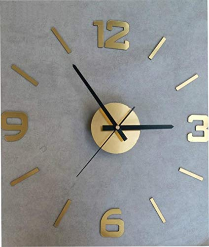 TPYFEI Simple Paste-Type Wall Sticker Hanging Table Making Digital Wall Clock Living Room Decoration Table Wall Clock Wall Decoration acrylic-16 inch Brushed Gold
