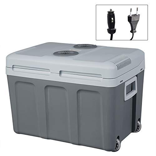 WOLTU KUE009dgr Glacière électrique Mini Réfrigérateur 45L Maintien au Chaud ou Refroidissement, 12V et 220V pour Voiture ou Camping,Gris